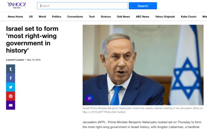 Yahoo Right-Wing Netanyahu