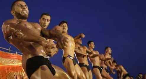 Gaza bodybuilders - AP