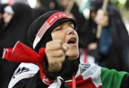 iranian female anti Israel protester