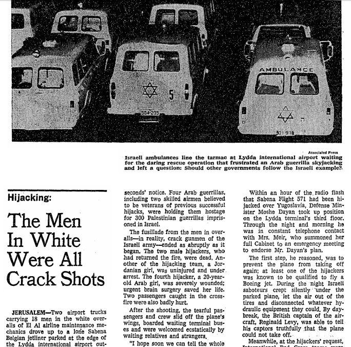 ny times archive hijack 1972 1