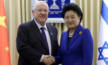 Rivlin and Liu Yandong