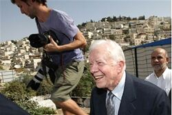 Carter visits Jerusalem Friday