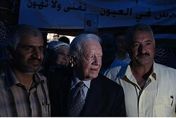 Jimmy Carter visits Arab neighborhood