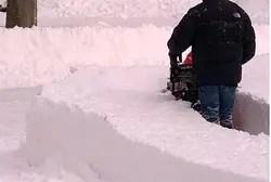 Snowblowing a path through the snow