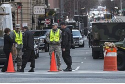 Scene of Boston marathon bombings