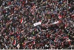 Anti-Morsi protesters in Tahrir square in Cairo