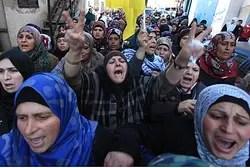 Mujeres PA en el funeral de terrorista