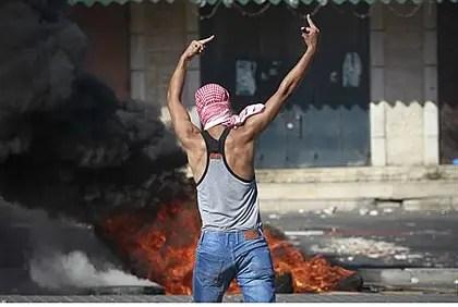 Arab rioter in Jerusalem's 'silent intifada'
