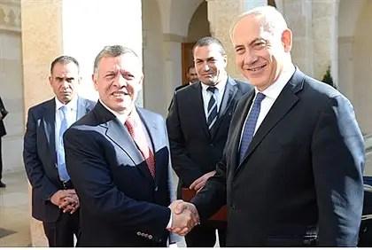 Jordanian King Abdullah II, Binyamin Netanyahu