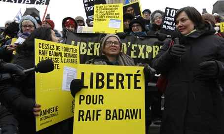 Demonstration for the release of Raif Badawi