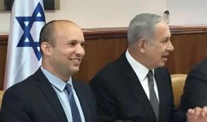 Netanyahu and Bennett in cabinet meeting