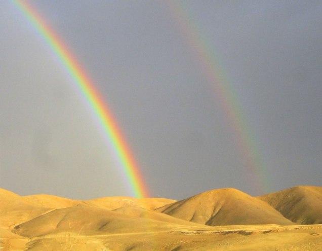 Радуга в Иудейской пустыне