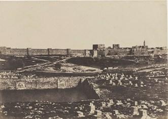 Бассейн и кладбище Мамилла в середине XIX века