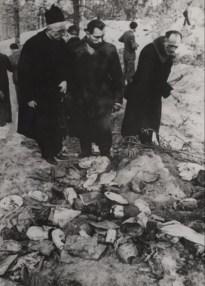 Останки польских офицеров в Катыни