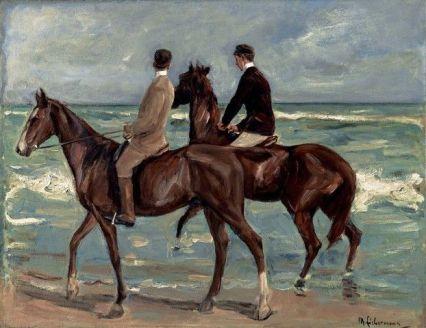 Макс Либерман, «Всадники на пляже», 1901 г.