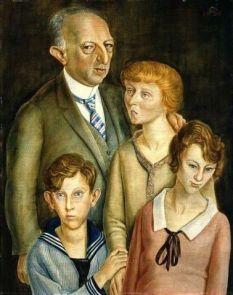 Отто Дикс, «Групповой портрет Фрица Гласера и его семьи»