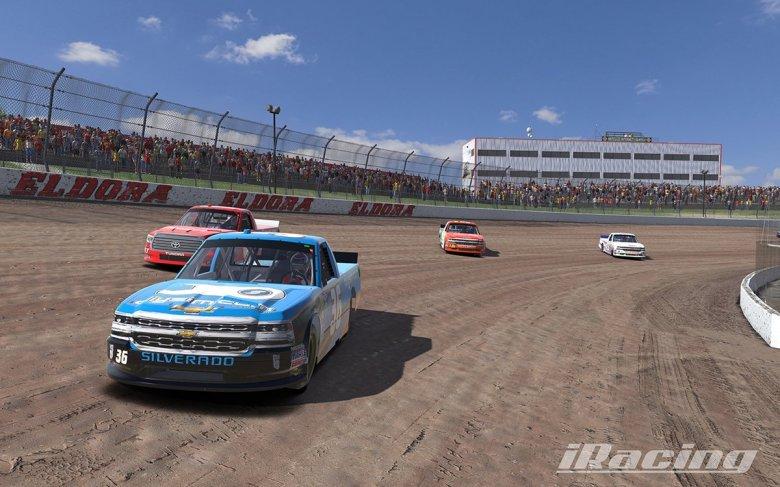 iRacing Show Off NASCAR Camping World Trucks at Eldora Speedway - Inside Sim Racing