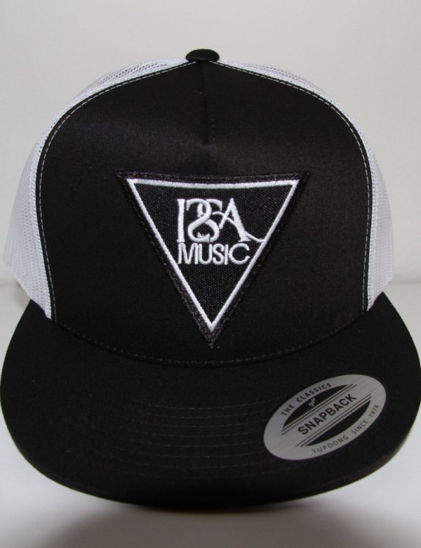 Black White Back Black Patch Hat