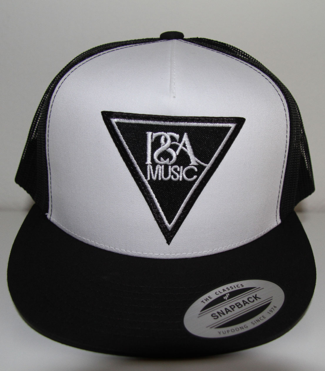 White Black Back Black Patch Hat