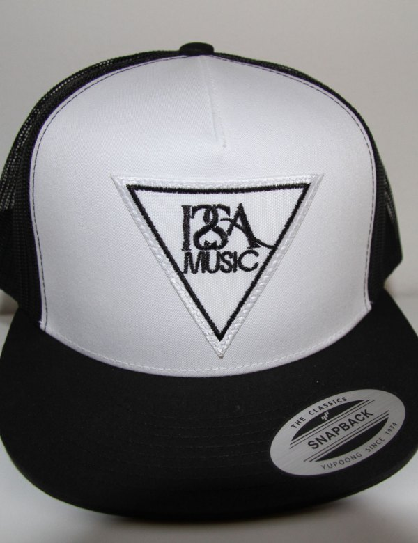 White Black Back White Patch Hat