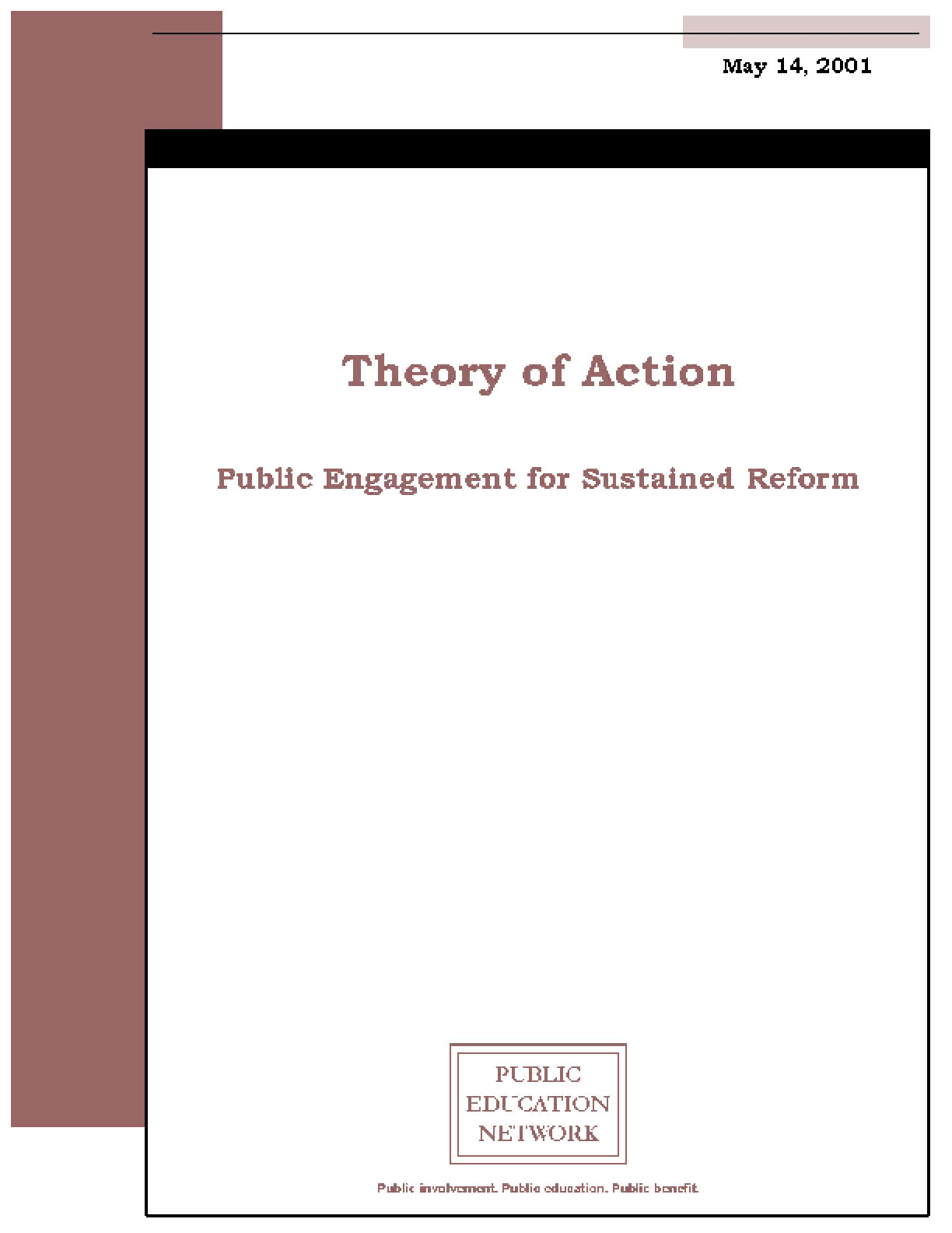 Theory Of Action Public Engagement For Sustained Reform