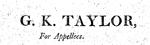G. K. Taylor, Esq.