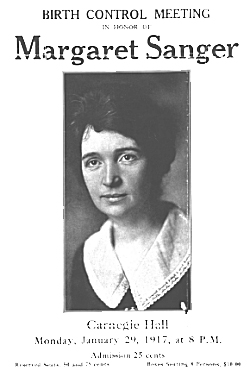 Margaret Sanger Flyer