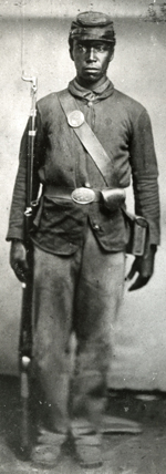 Unidentified Black Enlisted USCT Soldier