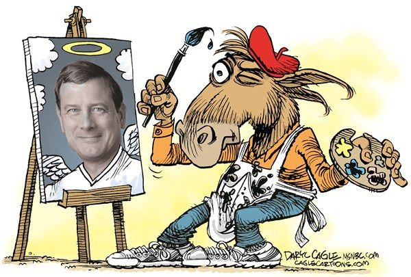 Image result for cartoons about justice roberts the liberal jackass
