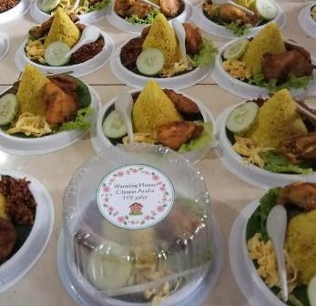 Pesan catering nasi tumpeng mini box di  Tugu Selatan, jakarta utara