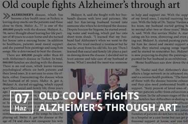old couple fights alzheimers through art evde bakım merkezi