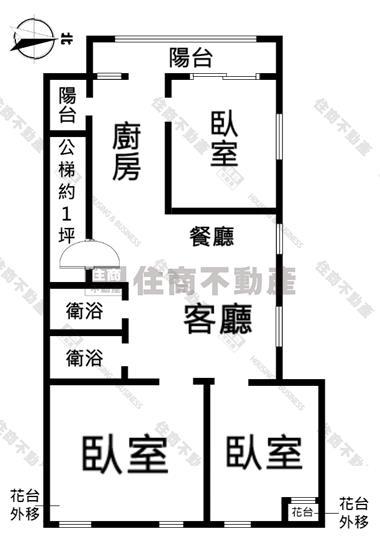北區-興進綠園道2樓公寓住家 全新整理裝潢