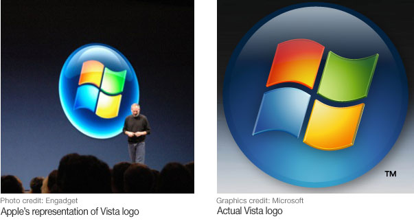Apple's Vista logo comparison