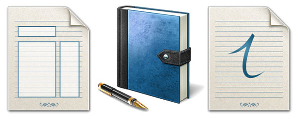 Windows Vista Journal icons