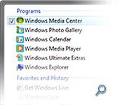 Windows Vista Start menu search