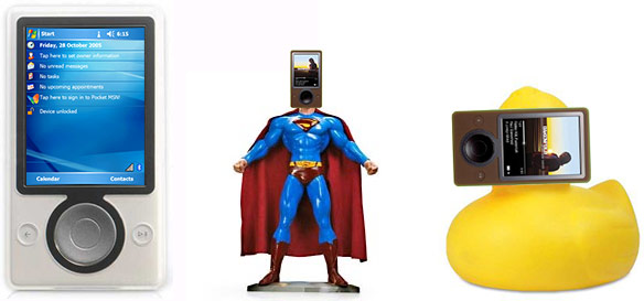 The Zune phone, action figure and bathtub toys?