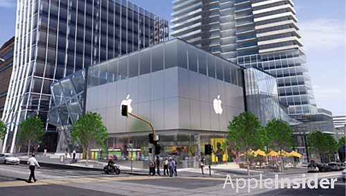 Apple store in Melbourne