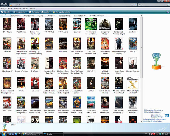 Windows Vista Games Explorer