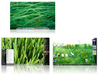 Wallpapers in Mac OS X Leopard and Windows Vista