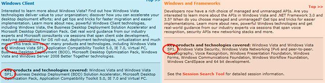 TechEd Barcelona Windows Vista SP1