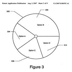 Microsoft pie menu patent