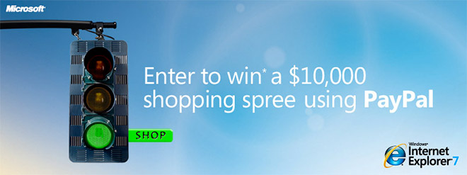 The IE7 Shop with More Confidence Sweepstakes
