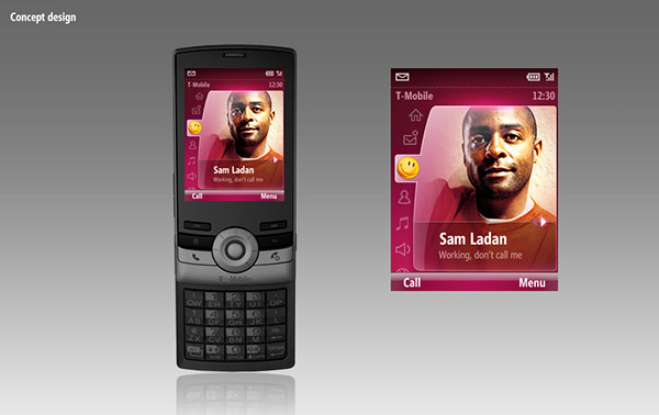 T-Mobile Shadow interface concept