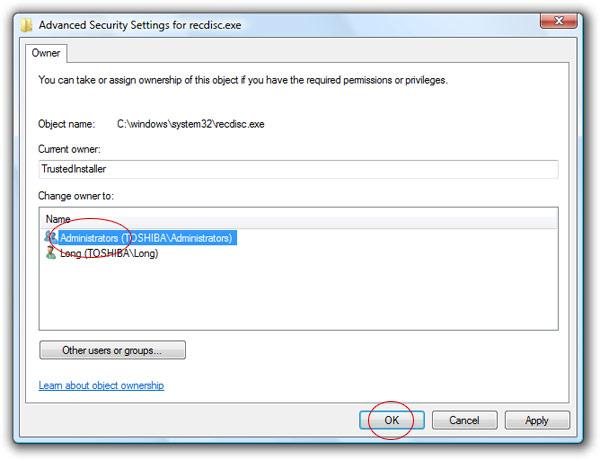toshiba windows 7 recovery file