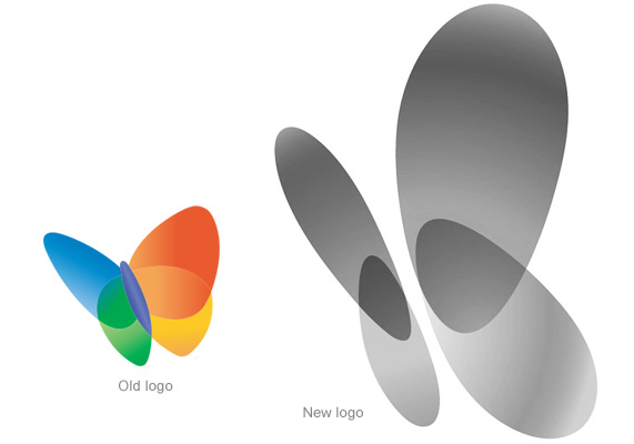 New MSN butterfly logo