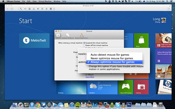 Tip: improve Windows 8 edge-gestures in VMware Fusion on Mac