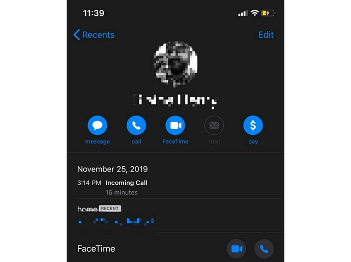 iphone call history
