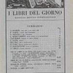 I libri del giorno - Milano - Anno X N. I