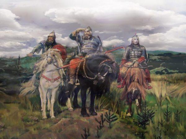 Описание картины Васнецова Богатыри