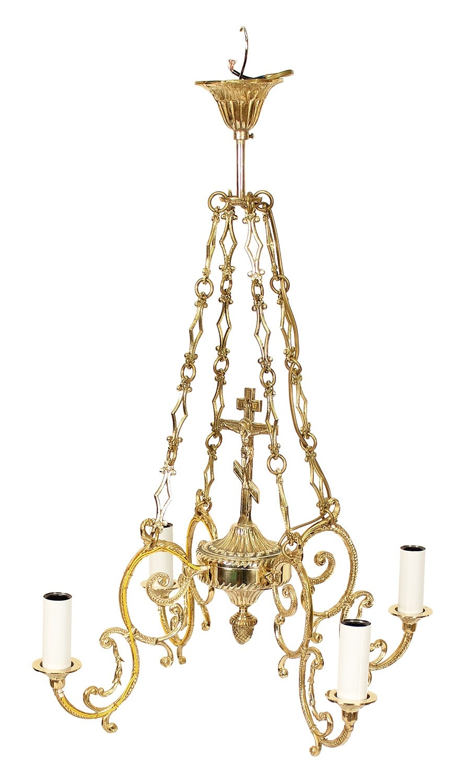 church chandeliers solid brass